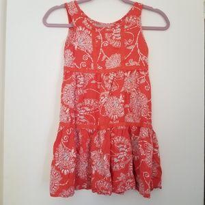 Girls Flowy Dress Orange Boho